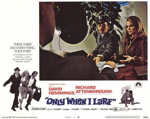Sixties | Only When I Larf, starring David Hemmings, Richard Attenborough, Alexandra Stewart and Terence Alexander, 1968