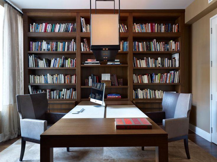 travailler face face dans votre bureau domicile partag voir d 39 autres id es d 39 am nagement. Black Bedroom Furniture Sets. Home Design Ideas