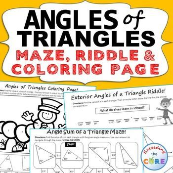 angles of triangles maze riddle coloring page fun math activities discover best ideas. Black Bedroom Furniture Sets. Home Design Ideas