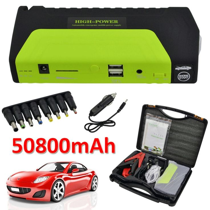 50800mAh 12V Portable Car Jump Starter Mini Car Battery Engine Starter Booster Emergency Power Bank Battery Source Pack Charger #Affiliate
