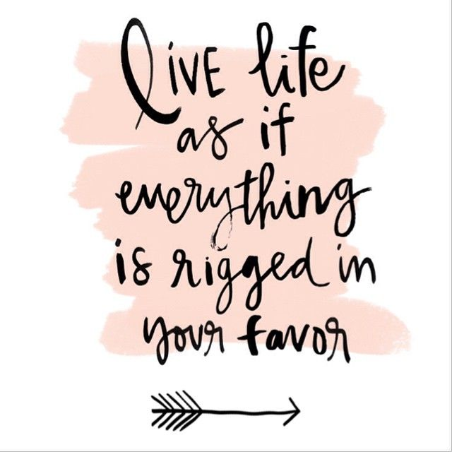 www.redfairyproject - daily inspiration {Live life as if everything is rigged in your favor.} I love this reminder from The Nectar Collective. Sometimes, when challenges are thrown our way, we can get discouraged and think that life is against us. We must be very weary of this attitude as it creates low level energy which brings us to live …