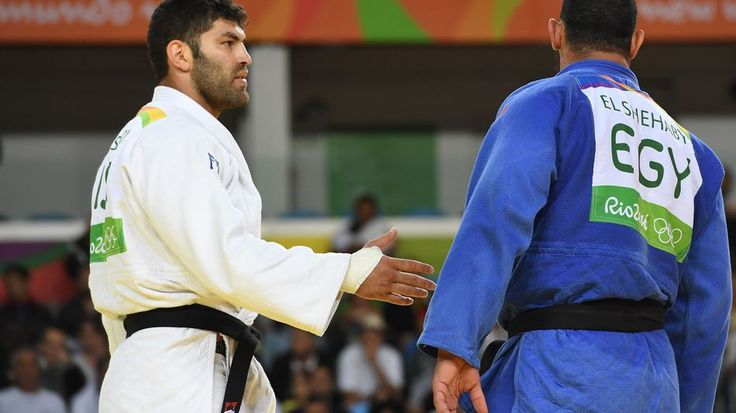 Egyptian judoka rejects handshake with Israel's opponentOr Sasson after Islam Elshehaby refuses to shake his hand.  Image: AFP/Getty Images  By Gianluca Mezzofiore2016-08-12 16:28:14 UTC  Egyptian judo fighter Islam El Shehaby refused to shake hands with his opponent Israels Or Sasson in a major breach of judo etiquette during the Rio Olympics.  El Shehaby who had come under pressure from Islamist-leaning and nationalist voices in Egypt to withdraw entirely from the fight was loudly booed by…