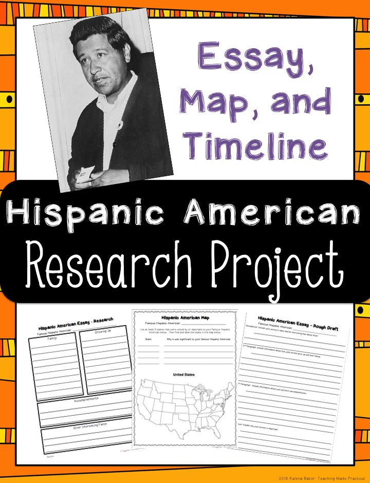 americans or hispanics essay This american latino theme study essay surveys american latino history  through a focus on five individuals – félix varela, maría amparo ruíz de burton, .