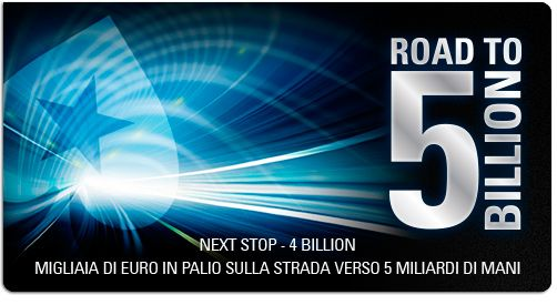 road to 5 billions hands  #bonus: #road to 5 #billions: 1 hand every 200k will be priced more than twice the pot for every player @ tables http://www.creepingmold.com/wordpress/2013/10/03/bonus-road-to-5-billions/