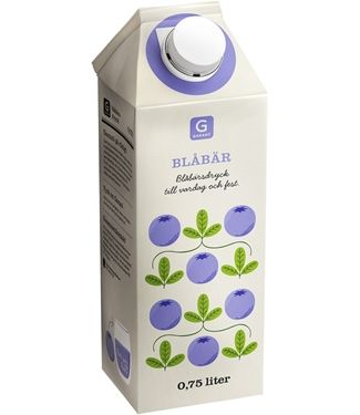 Garant - Blueberry juice [blueberry design would be super cute for some #lottajansdotter inspired print]