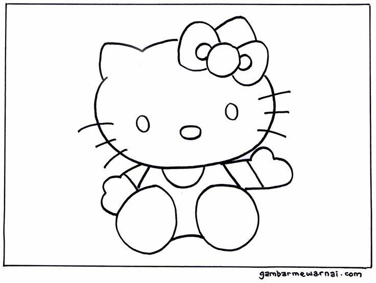Mewarnai Hello Kitty Gambar Mewarnai Unta Pinterest