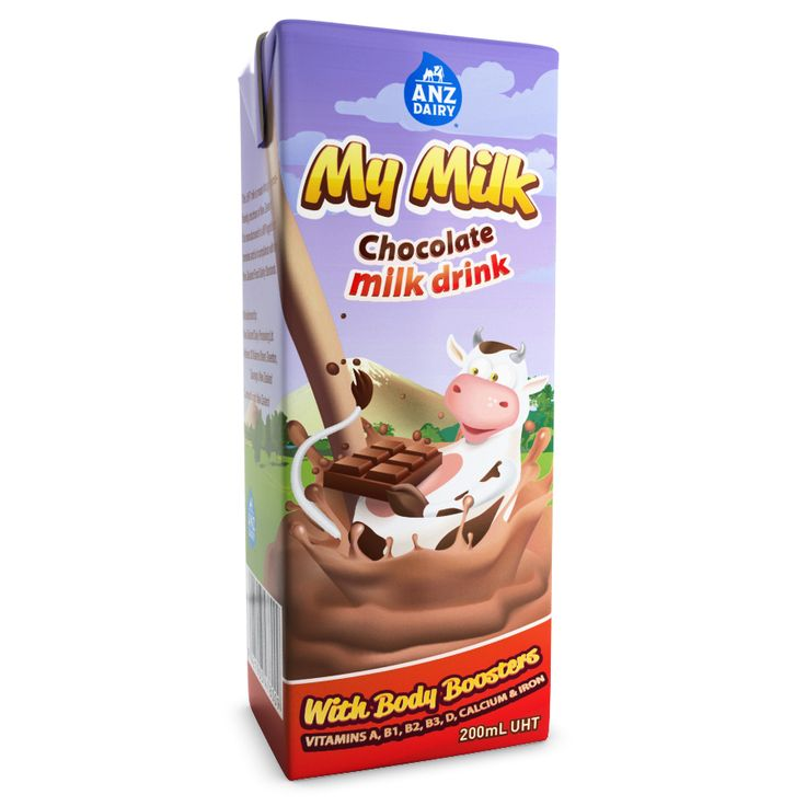 Anz dairy uht chocolate flavoured milk front view 3d