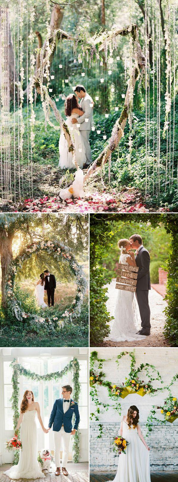 Oh Snap! 45 Creative Wedding Photo Backdrops - Natural Backdrop and Greenery!