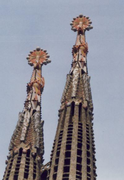 Kirchtürme Sacrada Familia, Barcelona, Foto: S. Hopp