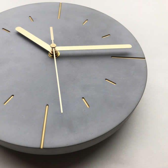 Modern Concrete Wall Clock Wall Clock Modern Clock Wall Art Clock