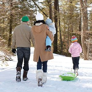 We don't have snow so we like going for a walk in the rain....  http://www.parents.com/fun/activities/outdoor/fun-free-cabin-fever-busters/?rb=Y#page=13  Looks like your family!!