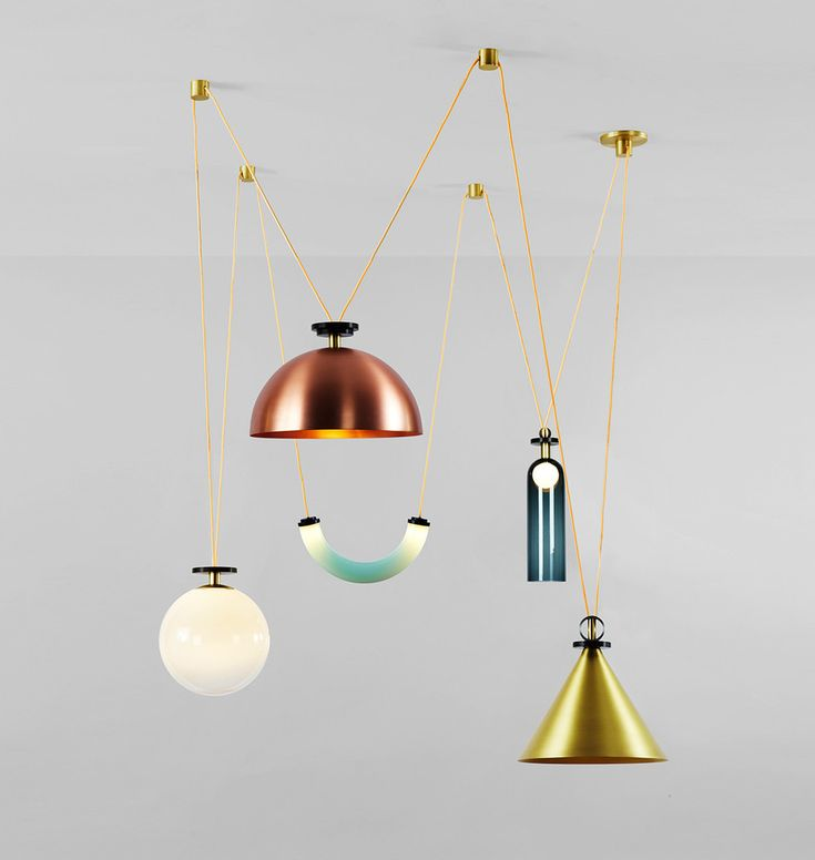 Shape Up Chandelier by Ladies & Gentlemen Studio * Shock of the Lighting * The Inner Interiorista