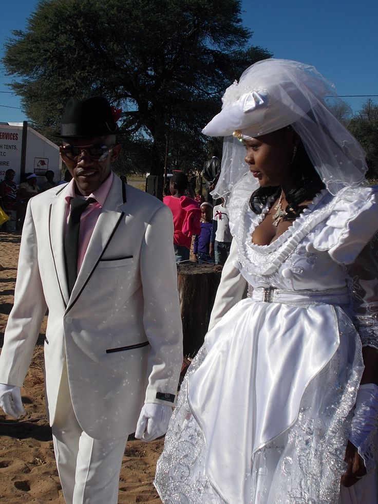 Herero bride and groom African bride, Traditional