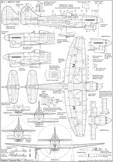 Hawker Tempest List 3