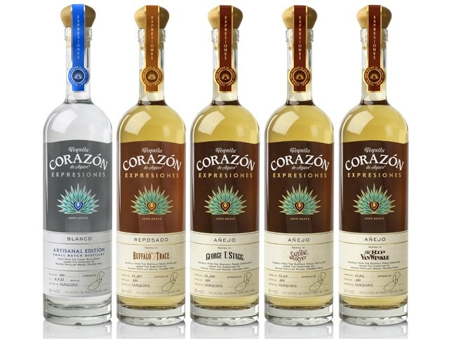 Corazon Tequila releases a special line aged in notable bourbon casks including Buffalo Trace, George T. Stagg, Sazerac Rye, and Old Rip Van Winkle. Drink Spirits has a review.