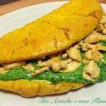Frittata farcita con besciamella di spinaci e pollo