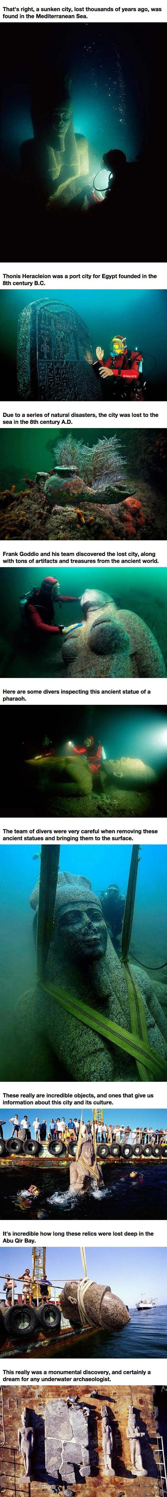 A Lost City Under The Sea. I remember reading about this; so cool.