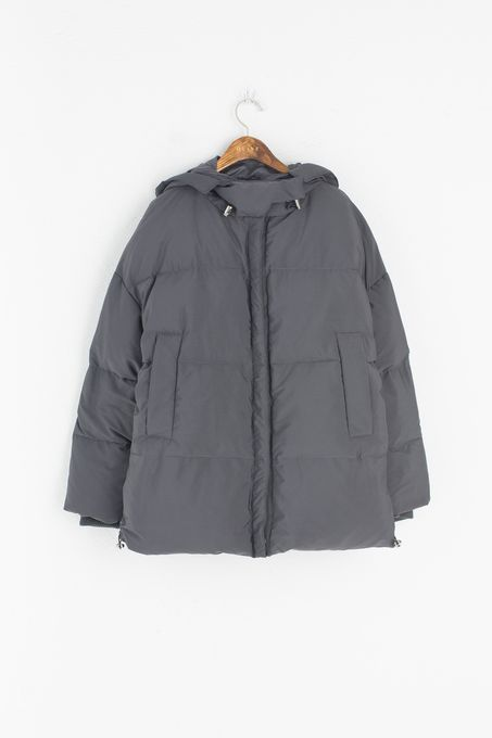 Under Duck Down Jacket, Charcoal, 100% Polyester