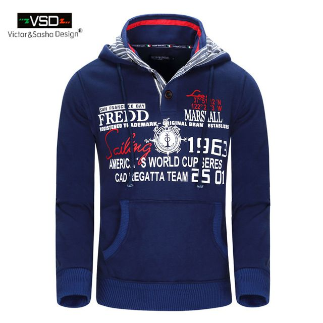 Aliexpress Men. Victor&Sasha Design 2016 Winter Fashion Hat Hoodies Men's Thick Hooded Men Jacket Pocket Sweatshirt Good Print Letter Plus Size