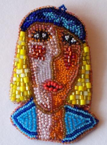 """Brooch """"Portrait of a Woman"""" № 3"""