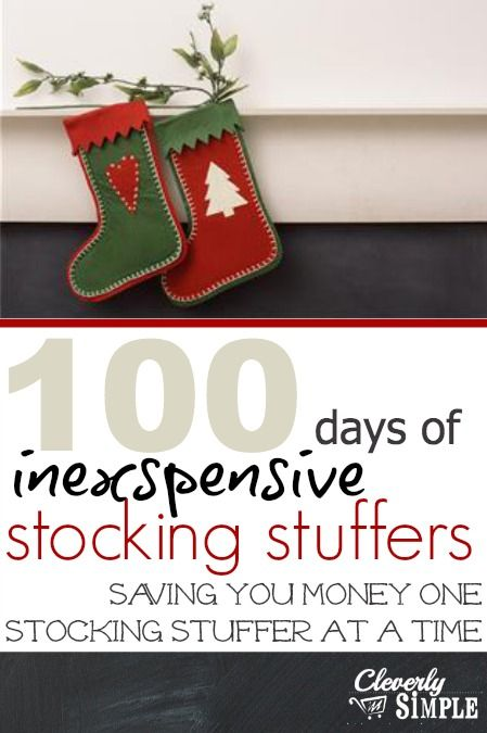 100 days Inexpensive Stocking Stuffers!  Fill your stockings with meaning gifts without breaking your budget!