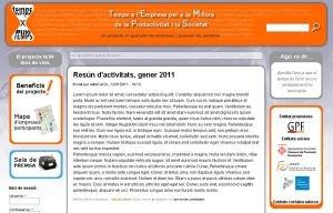 Web oficial de Temps x Temps
