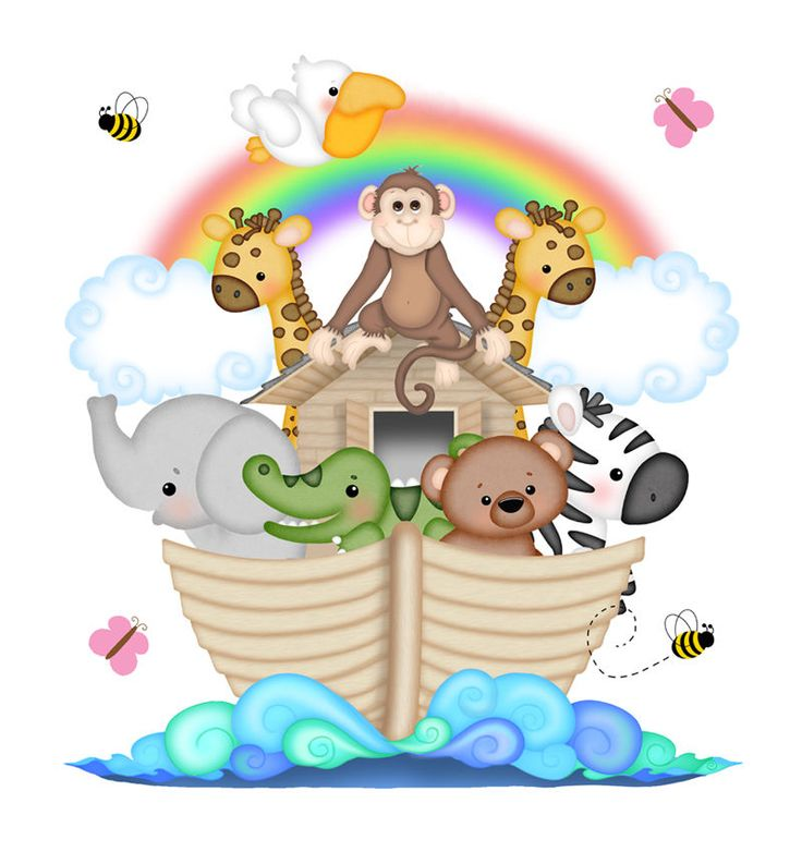 Noahs Ark Baby Nursery Decals Wall Art Mural Safari Animal