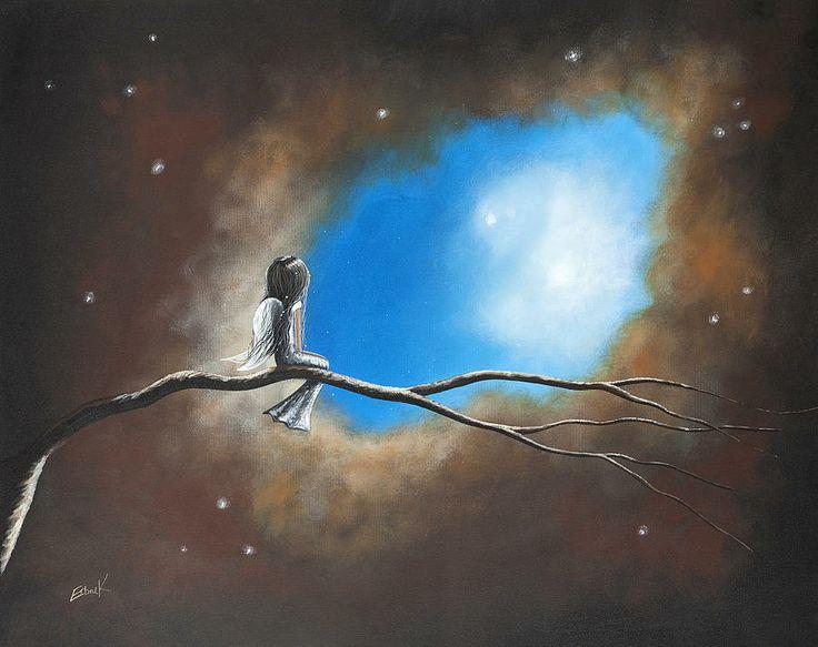 Non piangete sulla mia tomba non è lì che sono. Sono là dove i mille venti spirano, sono il bagliore accecante della neve, sono il raggio di sole sul grano maturo, sono la pioggia di autunno che cade leggera al Vostro risveglio nella quiete del mattino, sono il lesto frullare di ali nel cielo, sono il chiarore delle stelle nella notte buia. Non piangete sulla mia tomba, non è lì che sono. _ Da un canto degli indiani Navajos _ Dipinto di Shawna Erback