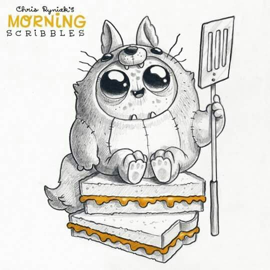 Chris Ryniak - cute art  Morning scribbles