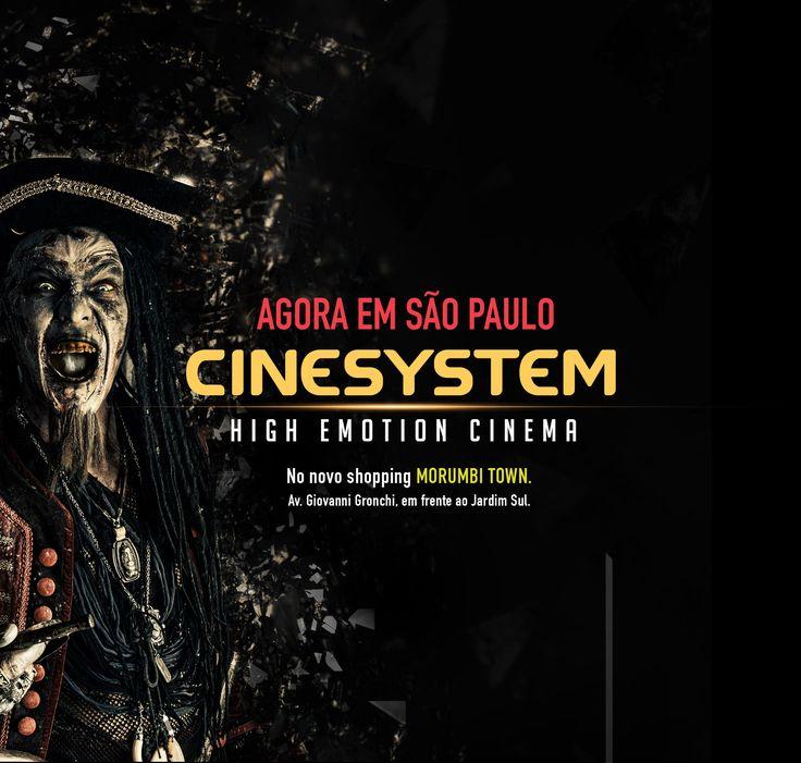 AGORA EM SÁO PAULO, Cinesystem High Emotion Cinema, No novo shopping Morumbi Town, Av. Giovanni Gronchi, em frente ao Jardim Sul.