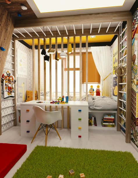 This is the coolest boys room I've ever seen...