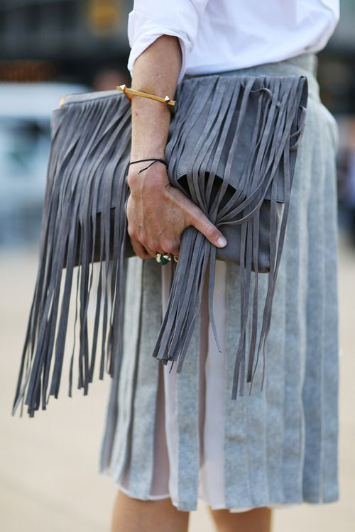 Suede fringe is absolutely EVERYTHING.