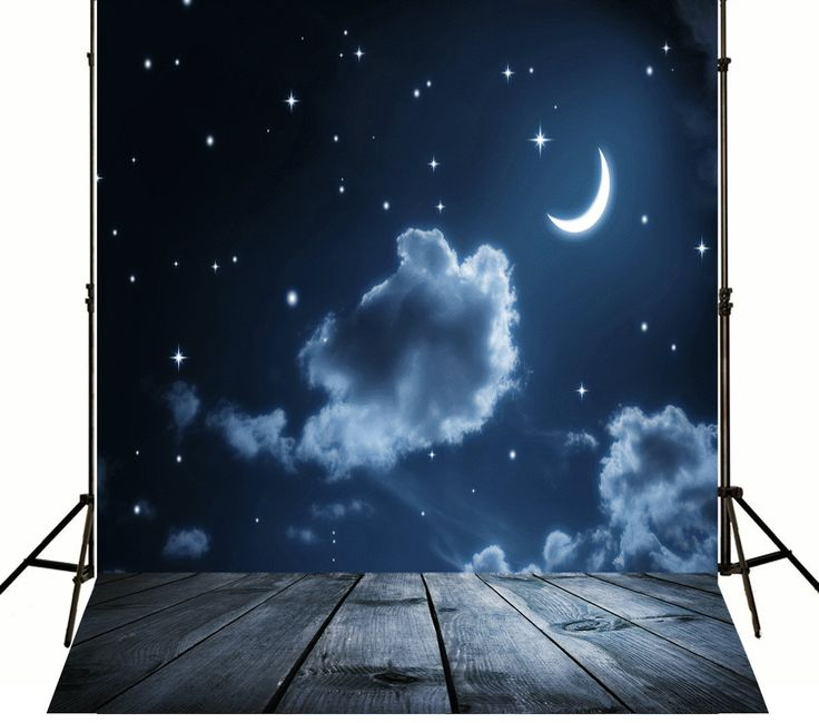 Photography Background Night Starry Sky Moon Photography Backdrops Children Doomsday Pterosaur for A Photo Shoot