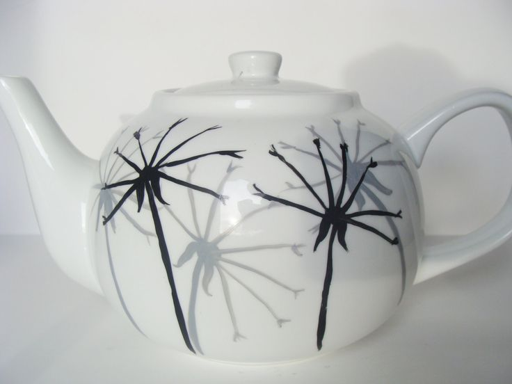 Dandelion Teapot Hand Painted by CANADIANCREATIONZ on Etsy