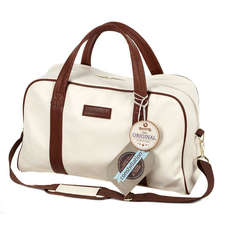 Constellation Faux Leather Holdall - Cream | Luggage | ASDA direct