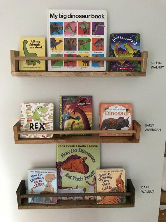 Children S Book Wall Shelf Nursery Bookshelf Floating Etsy