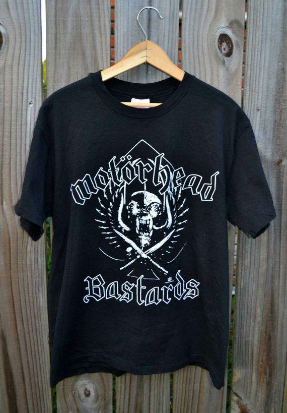 Motorhead Bastards Official Concert Tshirt Label Size Large Excellent Condition 100% cotton, pre-shrunk