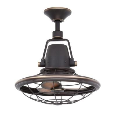 Home Decorators Collection Bentley II 18.90 in. Tarnished Bronze Outdoor Oscillating Ceiling Fan with Wall Control