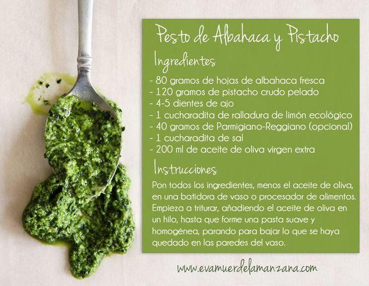 Receta: Pesto de Albahaca y Pistacho