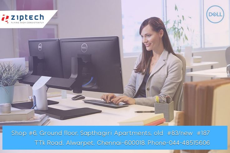 Buy latest models of Dell Desktop Computers from Chennai's best Laptop Showroom. Check in #Ziptech for more exciting offers.