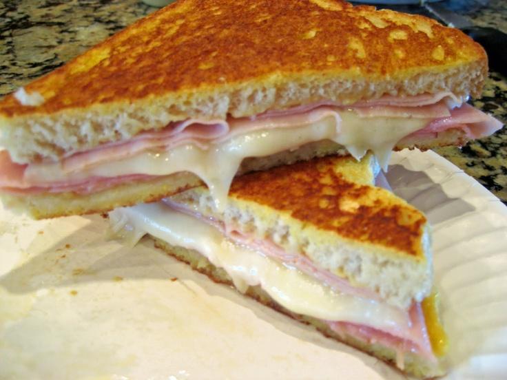 Monte Cristo sandwich add bacon | Dinner Ideas | Pinterest