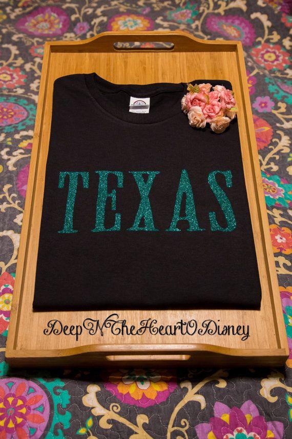 Texas Shirt  Glitter Texas Love Shirt  by DeepNTheHeartODisney