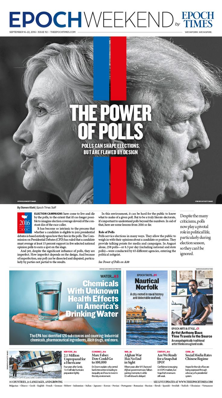 Polls Can Shape Elections, but They Are Flawed by Design|Epoch Times #newspaper #editorialdesign                                                                                                                                                                                 More