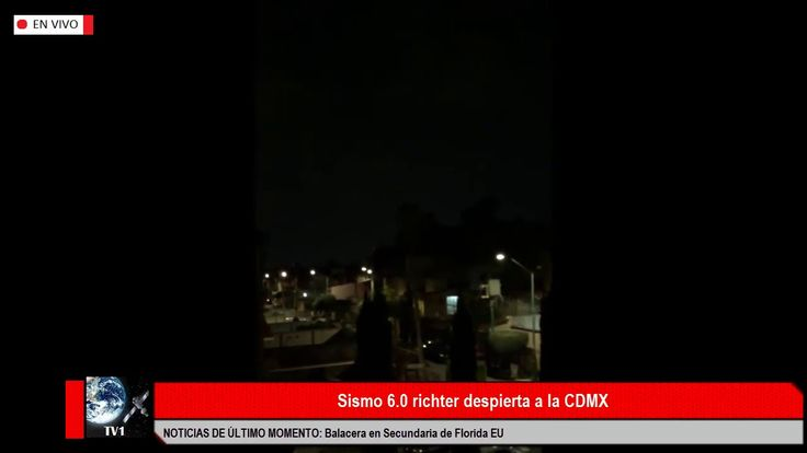SISMO 6.0 RICHTER DESPIERTA A LA CDMX VIDEO TEMBLOR ALERTA SÍSMICA 19 FE...
