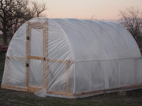 How to build a green hoop house.