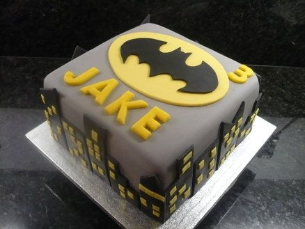 Batman Birthday Cake - by Debbie @ CakesDecor.com - cake decorating website