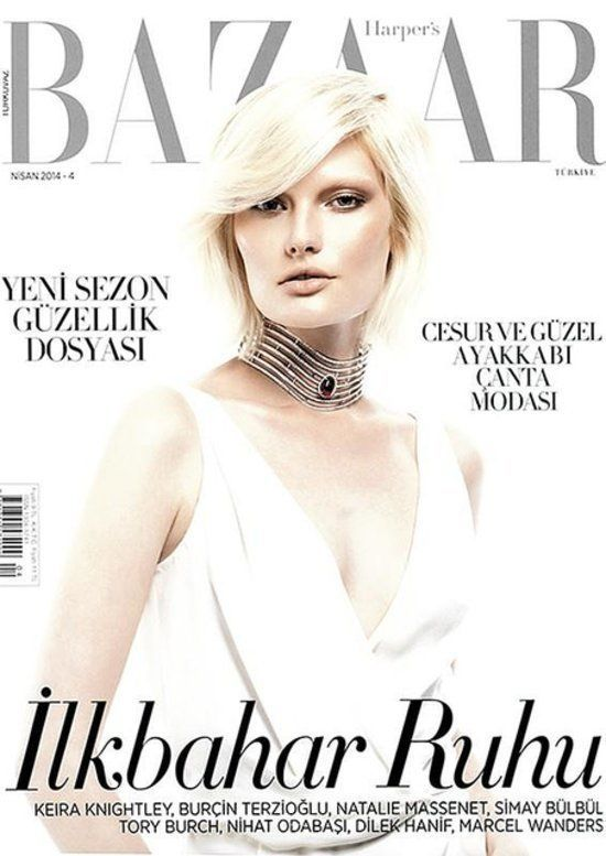 COVER  Harpers Bazaar Turkey April 2014 Cover  Anna Emilia Saari