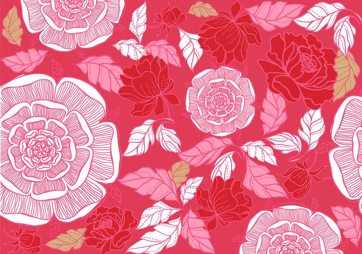 pattern for imagezoo. Love roses! #pattern #roses #tamairis #red #pink #silk #leaf #rose #rosas #rojo