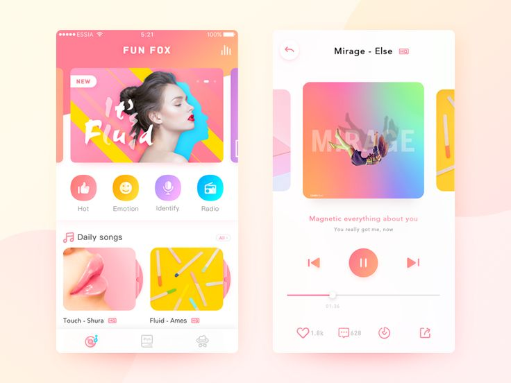 Music App Design by Essia #Design Popular #Dribbble #shots