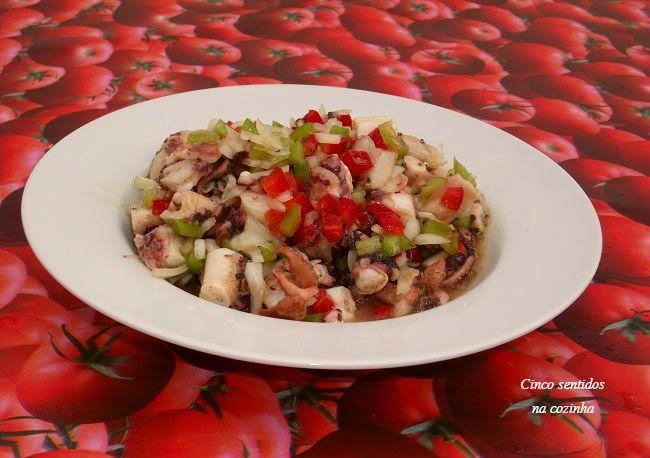 Cinco sentidos na cozinha: Salada de polvo